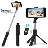 INBEX Tongsis Bluetooth Selfie Stick Tripod Tomsis with Remote Shutter