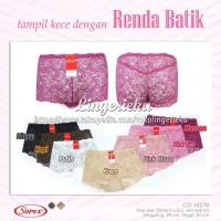 Celana Dalam Wanita Seksi Brokat Batik Lembut Sorex 16278