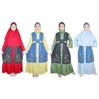 Fayrany Baju Muslim Anak Gamis Denim Warna FGD-014 size 6 - 15