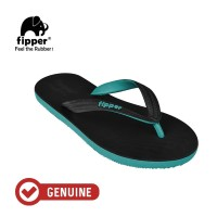 Fipper Black - M Series / Sandal Jepit Pria / Black - Turquoise