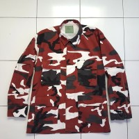 Coat Shirt BDU Army Woodland Kemeja Military Camo USA