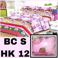 Bedcover dan Sprei Karakter Hello Kitty Katun Poly /Badcover Anak