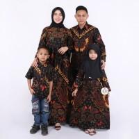 Batik keluarga family motif kupu kupu merah