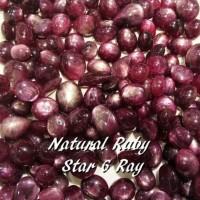 BATU PERMATA NATURAL RUBY STAR CORUNDUM
