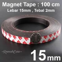 Magnet tape - 15mm per 1 meter double tape 3M magnetic strip meteran