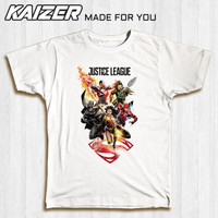 KAIZER RH-0218 Kaos Justice League - Comic - Putih, S