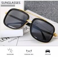BITZEN BZ03 Kacamata Hitam Polarized Fashion Sunglasses pria wanita - Abu-abu
