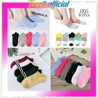 TMALL - Kaos Kaki Motif 3 Warna Wanita Pria Korea Socks Pendek R099