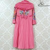 Hot Produk Baju Muslim Gamis Anak Perempuan Rample 4 5 6 7 Tahun