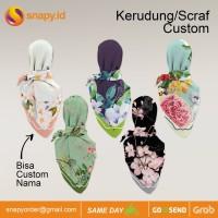 Cetak Scarf/Kerudung Custom bahan voal Premium