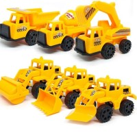 Mainan set 6 pcs Medium Kendaraan Truk Konstruksi Alat Berat