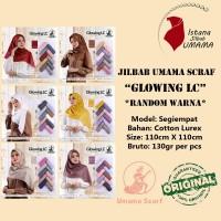 Jilbab Umama GLOWING LC kerudung segiempat Mewah & Elegan RANDOM Warna