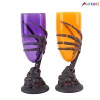 Gelas Kaca dengan Lampu LED Warna-Warni untuk Pesta Halloween