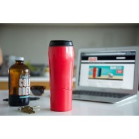 MERAH Mighty Mug Botol Ajaib Anti Tumpah Termos Gelas Tumbler H331
