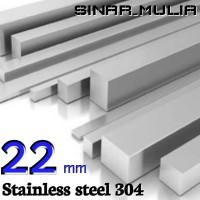 as segi empat / shaft segi 4 diameter 22mm stainless 304 / stenlis