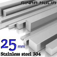 as segi empat / shaft segi 4 diameter 25mm stainless 304 / stenlis