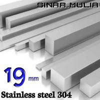 as segi empat / shaft segi 4 diameter 19mm stainless 304 / stenlis