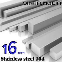 as segi empat / shaft segi 4 diameter 16mm stainless 304 / stenlis