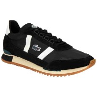 Sepatu Sneakers Lacoste Partner Textile And Suede Black 137336285