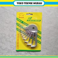 Kunci L Set 10 Pcs 1 - 10 MM RUSH Termurah