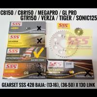 GIR SET SSS MEGAPRO GL PRO CB 150 CBR 150 / 428 BAJA RANTAI HSBT