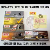 GIRSET SSS SUPRA X 125/REVO/BLADE/KHARISMA BAJA 428 RANTAI SSS 110 SB