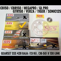 GEARSET/GIRSET/GIR SET SSS 428 CB150/CBR150/SONIC/TIGER RANTAI GOLD SB