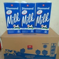 Susu UHT Plain Putih Full Cream Diamond - 1 Liter (Khusus Karton)