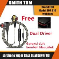 Earphone Super Bass Dengan Microphone Armature Dual Driver 9D