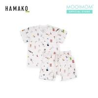 HAMAKO Unisex Top and Short Baju dan Celana Lengan Pendek