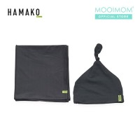HAMAKO Set Topi & Selimut Bayi Knot Beanie & Blanket