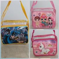Tas selempang anak plastik mika Unicorn Lol surprise Batman