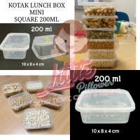 Kotak Lunch Box Mini 200ml - Thinwall Square 200ml - Kotak Makan
