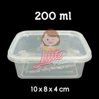 (ISI 400 PCS) Kotak Lunch Box Mini 200ml - Thinwall Square 200ml