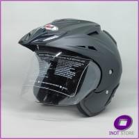 Helm Kaca Motor Half Face Dewasa SNI MLA Takachi Hitam Doff Dop Polos