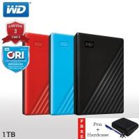WD My Passport HDD / Hardisk Eksternal 1TB USB3.2 + Hardcase + Pen