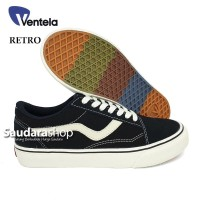 Sepatu Ventela Retro 77 Black Natural / Ventela retro Black Natural LC