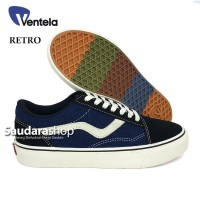Sepatu Ventela Retro 77 Black blue Denim / Ventela Black Blue Denim LC