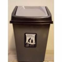 tempat sampah kotak segi plastik tutup goyang 5 liter