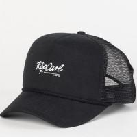 Original Topi Rip Curl Script Xl Trucker Cap Washed Black