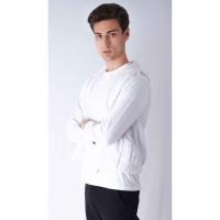 Houseofcuff Jaket Polos Hoodie Zipper Sweater Warna Putih - Putih, M