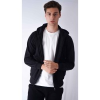Houseofcuff Jaket Polos Hoodie Zipper Sweater Warna Hitam