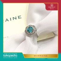 Cincin Morraine Square Flower 2 List by AMERO emas putih ring size 13