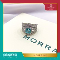 Cincin Morraine Square 7List by AMERO Emas Putih ring size 18,5 #2616