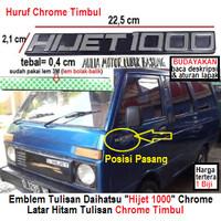 emblem tulisan logo samping daihatsu hijet1000 hijet 1000 chrome 1 pcs