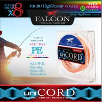 Senar Benang Tali PE X8 Falcon Uni Cord 150M MICRO PE Single Color - Orange, PE 0.6