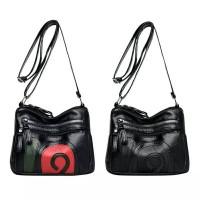 Fashion Hit Color Shoulder Messenger Handbags Women Leather Crossbody