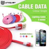 Kabel Data USB Charger Lightning 3 Meter For IPhone 5s/5/6/6+/7/7+/X