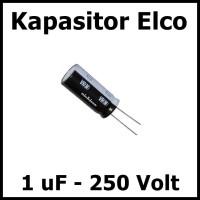 Kapasitor Elektrolit Elco Elko 1uF 250V 1 uF 250 Volt V