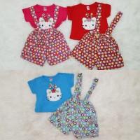 Baju Anak Bayi Perempuan Overall Hellokitty